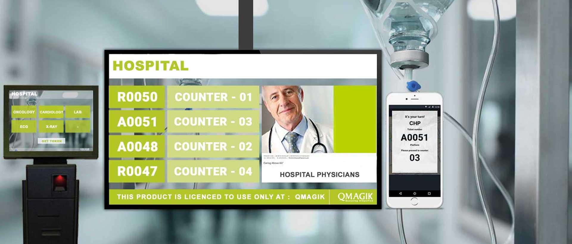 hệ thống xếp hàng trong bệnh viện